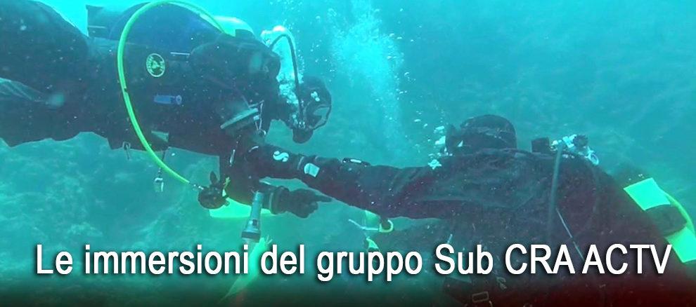 Le immersioni del Gruppo Sub CRA ACTV