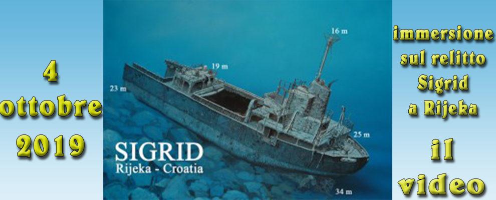 04/10/2019 Il video dell'immersione sul relitto Sigrid a Rijeka