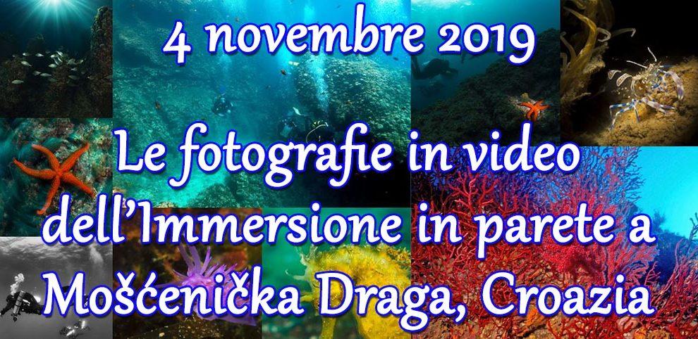04/11/2019 Le foto in video dell'immersione in parete Mošćenička Draga – Croazia