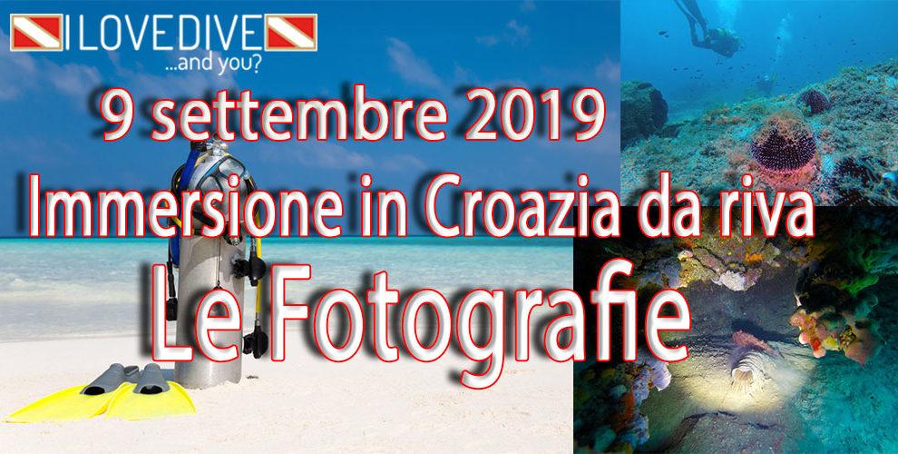 09/09/2019 Le fotografie dell'immersione in Croazia da riva